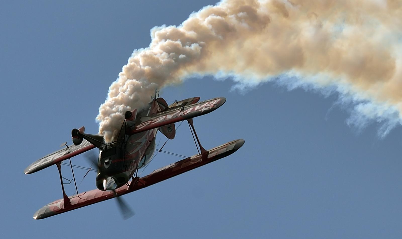 Vliegles In Een Stuntvliegtuig Stuntvliegen